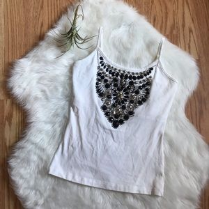 Jeweled Tank Top